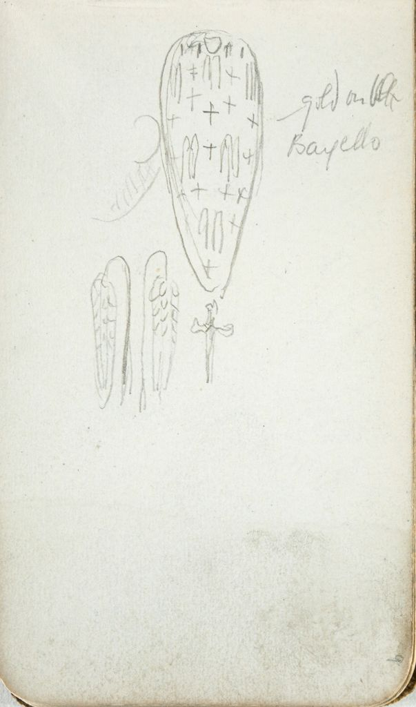Shield In The Bargello; Verso: Blank Page
