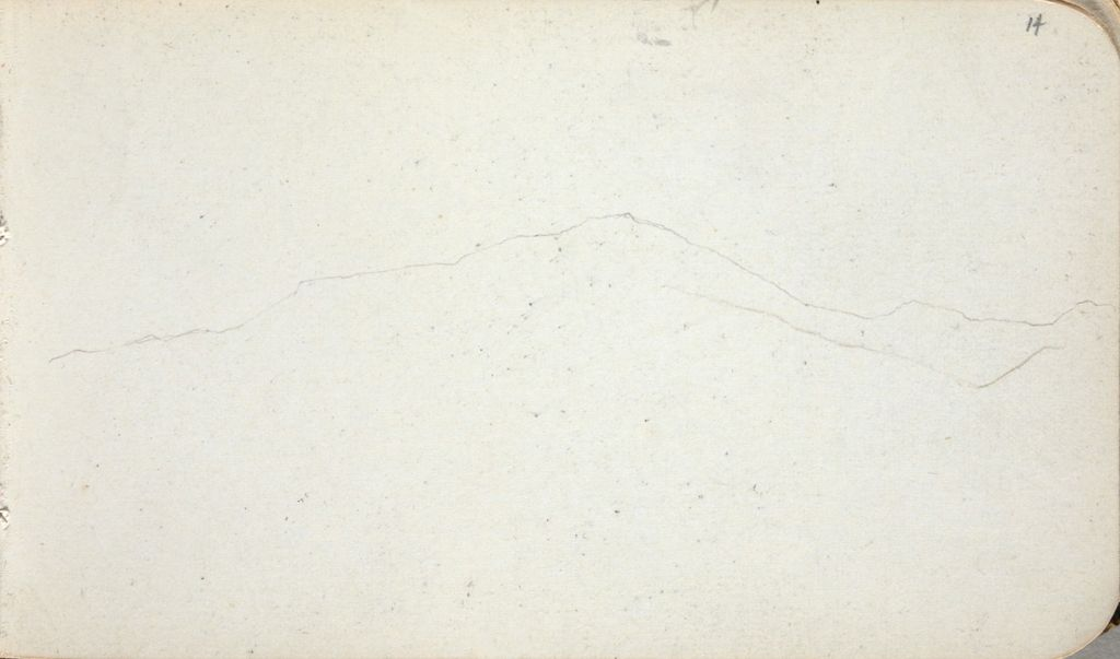 Faint Sketch Of Mountains; Verso: Olive Leaves