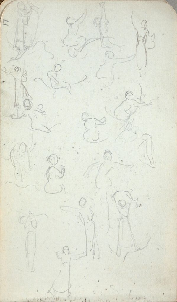 Seated, Dancing, And Reaching Female Figures; Verso: Standing Female Figure