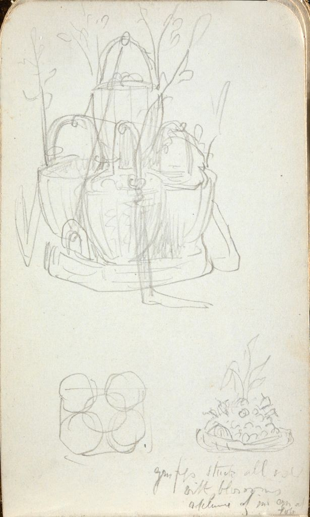 Blank Page; Verso: Sketches Of A Centerpiece(?)