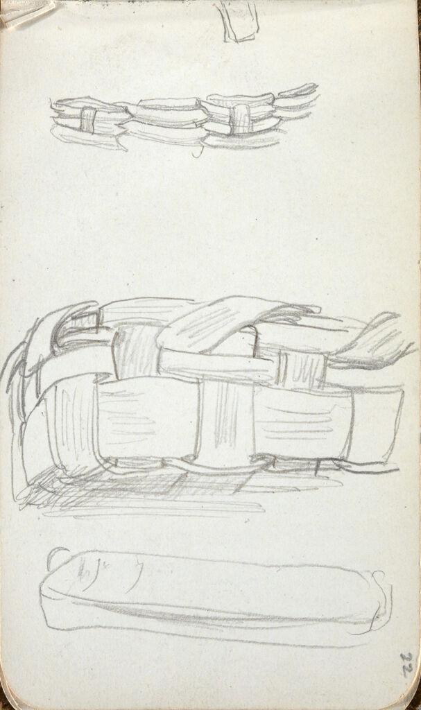 Studies Of Baskets; Verso: Inscription