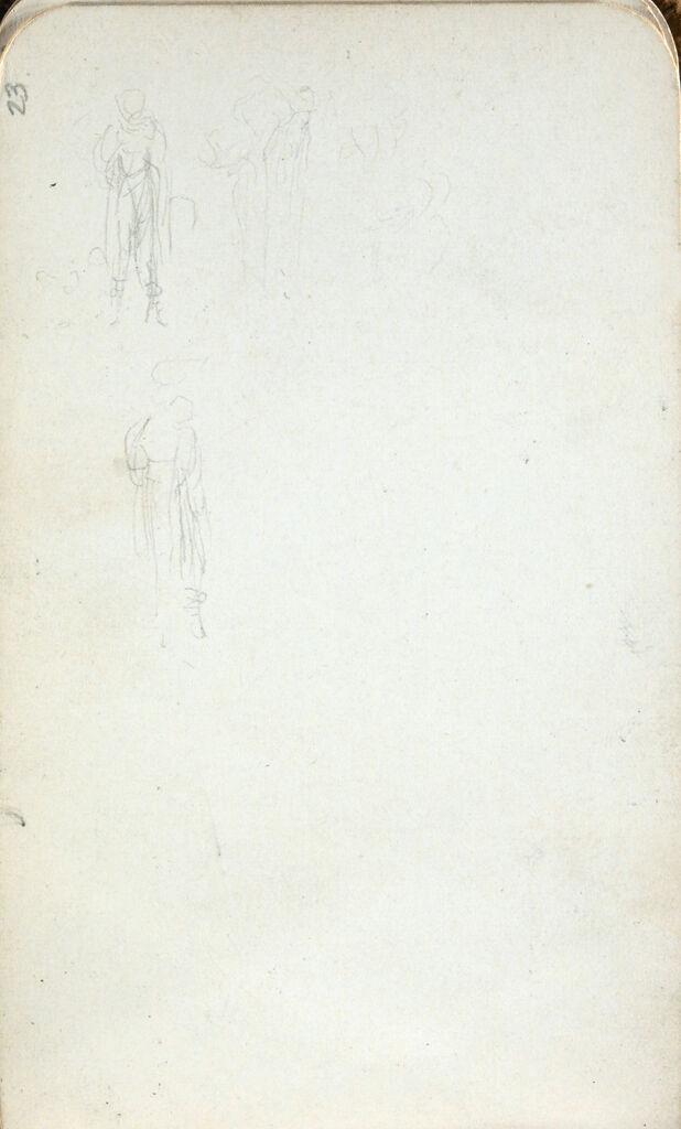 Figure Studies; Verso: Sketch Of Flowers And Leaves(?)