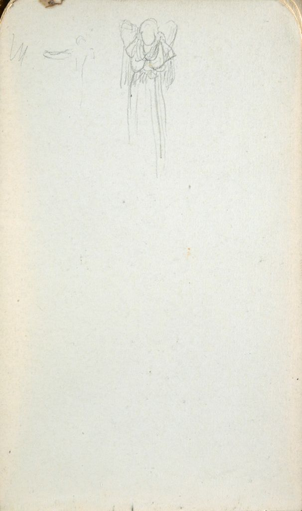 Blank Page; Verso: Female Figure