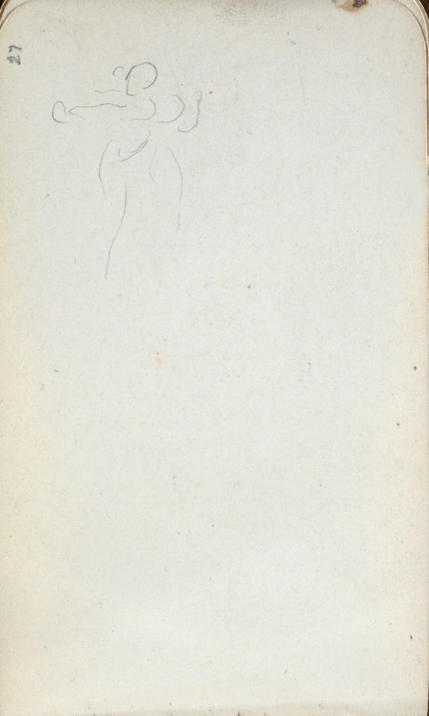 Figure Study; Verso: Landscape With Tree