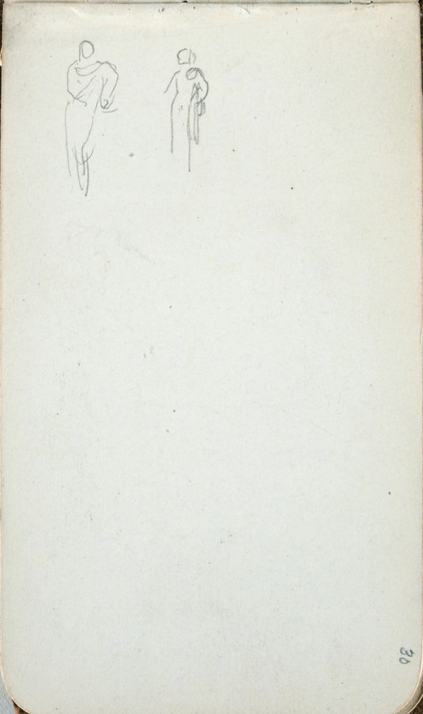 Two Female Figures; Verso: Blank Page