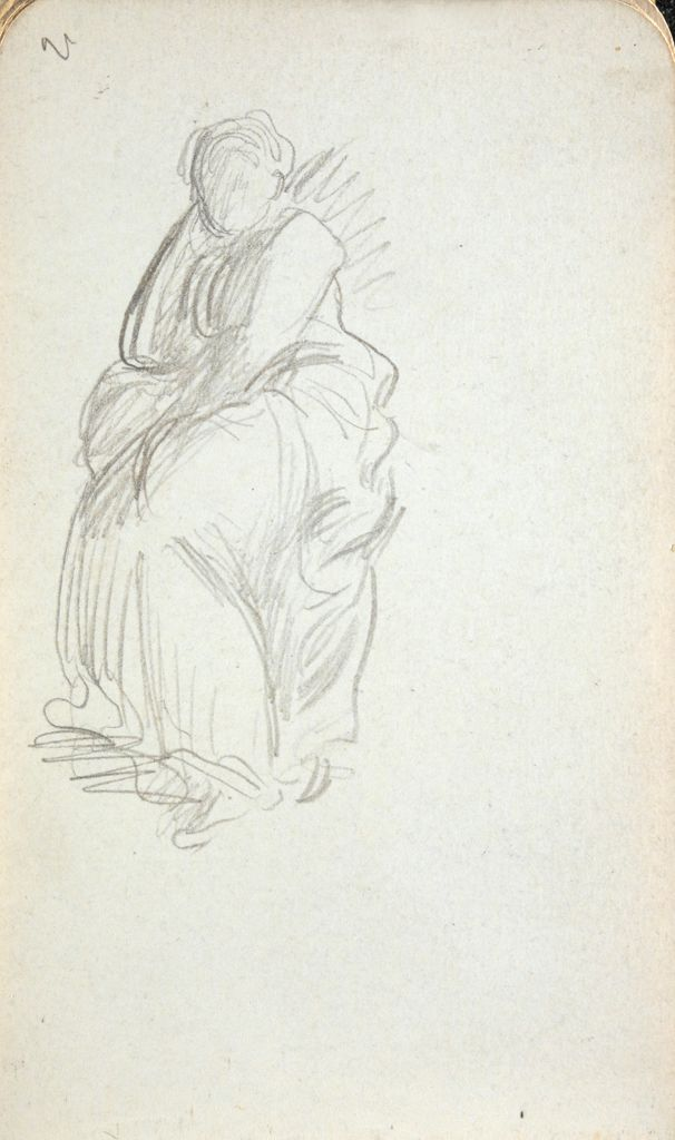 Blank Page; Verso: Study Of A Seated Woman