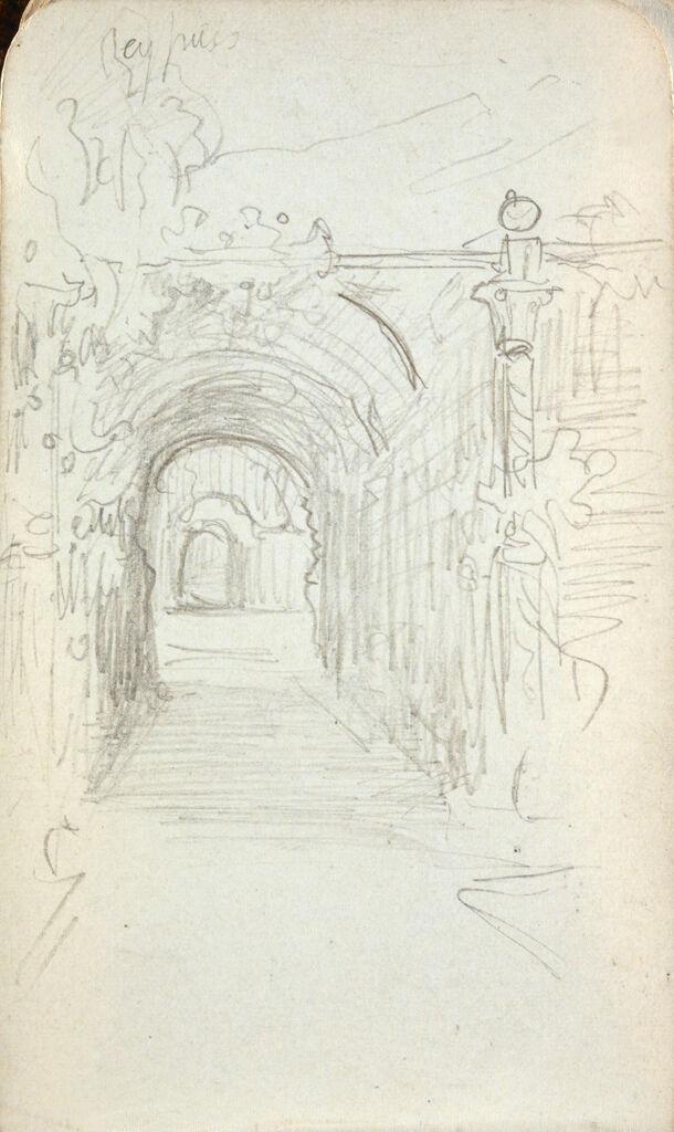 Blank Page; Verso: Garden Arch