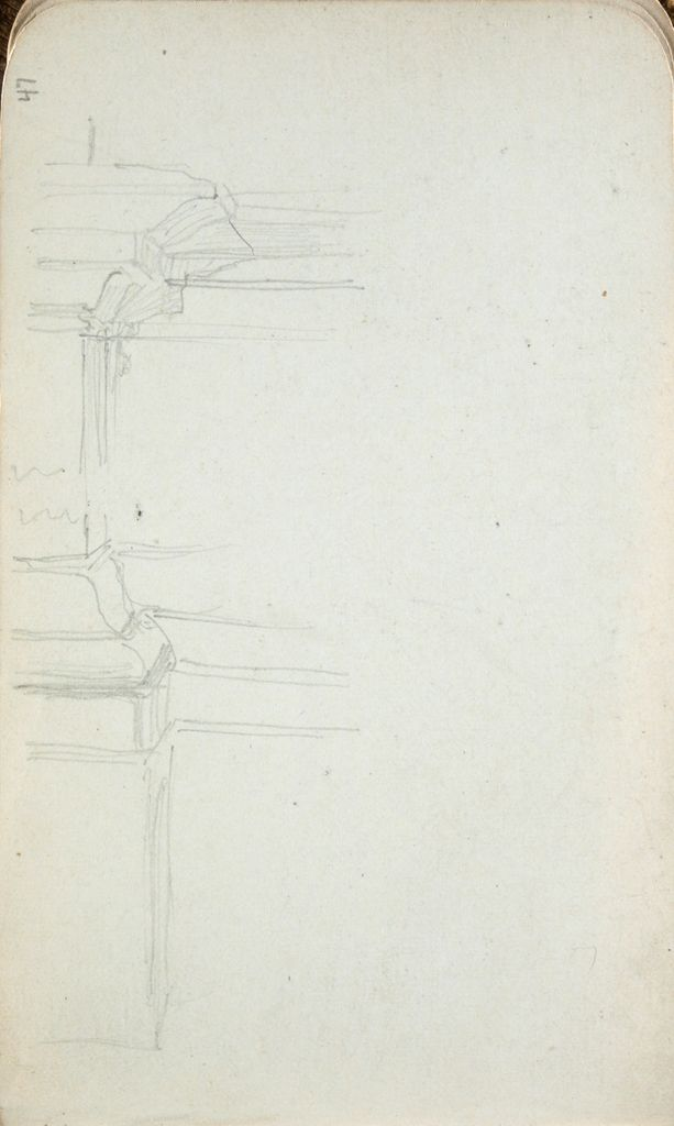 Architectural Study; Verso: Sketches Of Vessels
