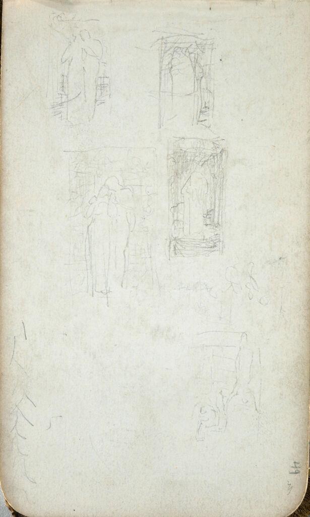 Figure Studies; Verso: Sketch