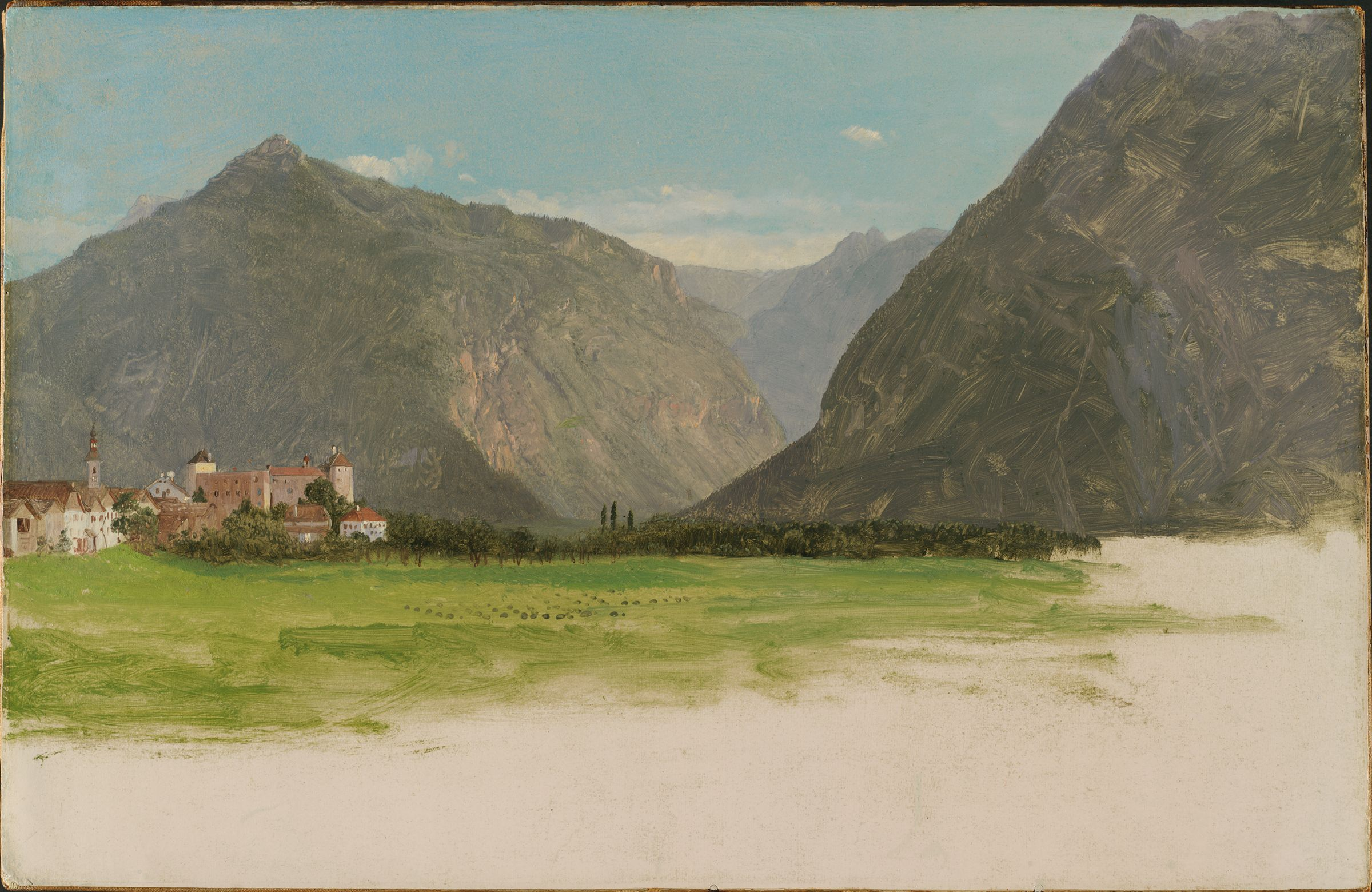 View Of Wimmis, Valley Of The Simmental, Switzerland