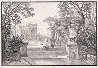 Landscape With A Formal Garden