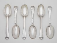 One of a Set of Six Table Spoons