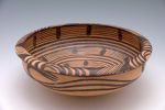 Circular Basin with Everted Lip and Abstract Décor