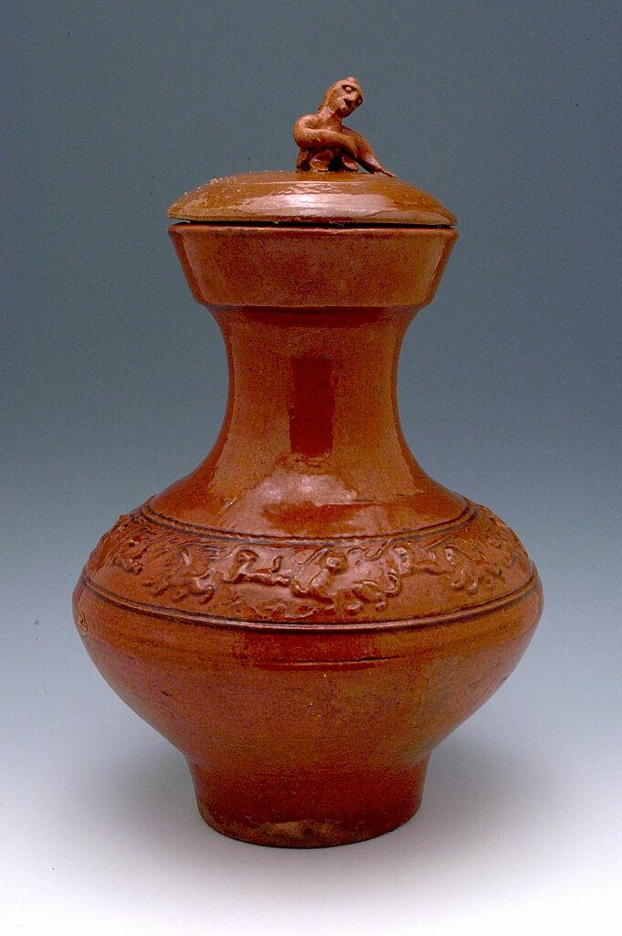 Covered Long-Necked Jar (Hu)