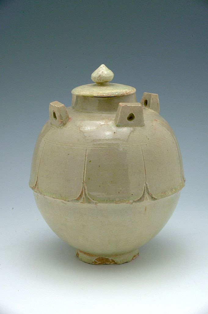 Covered Jar With Lotus-Petal Decor