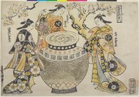 Three Vinegar Tasters (Furyū Osu No Sannin) Portrayed As Aburaya Osome, Daikyoji Osan And Yaoya Oshichi - Characters From Chikamatsu Plays