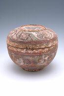 Round covered box