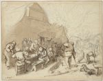 Festive Peasants outside an Inn