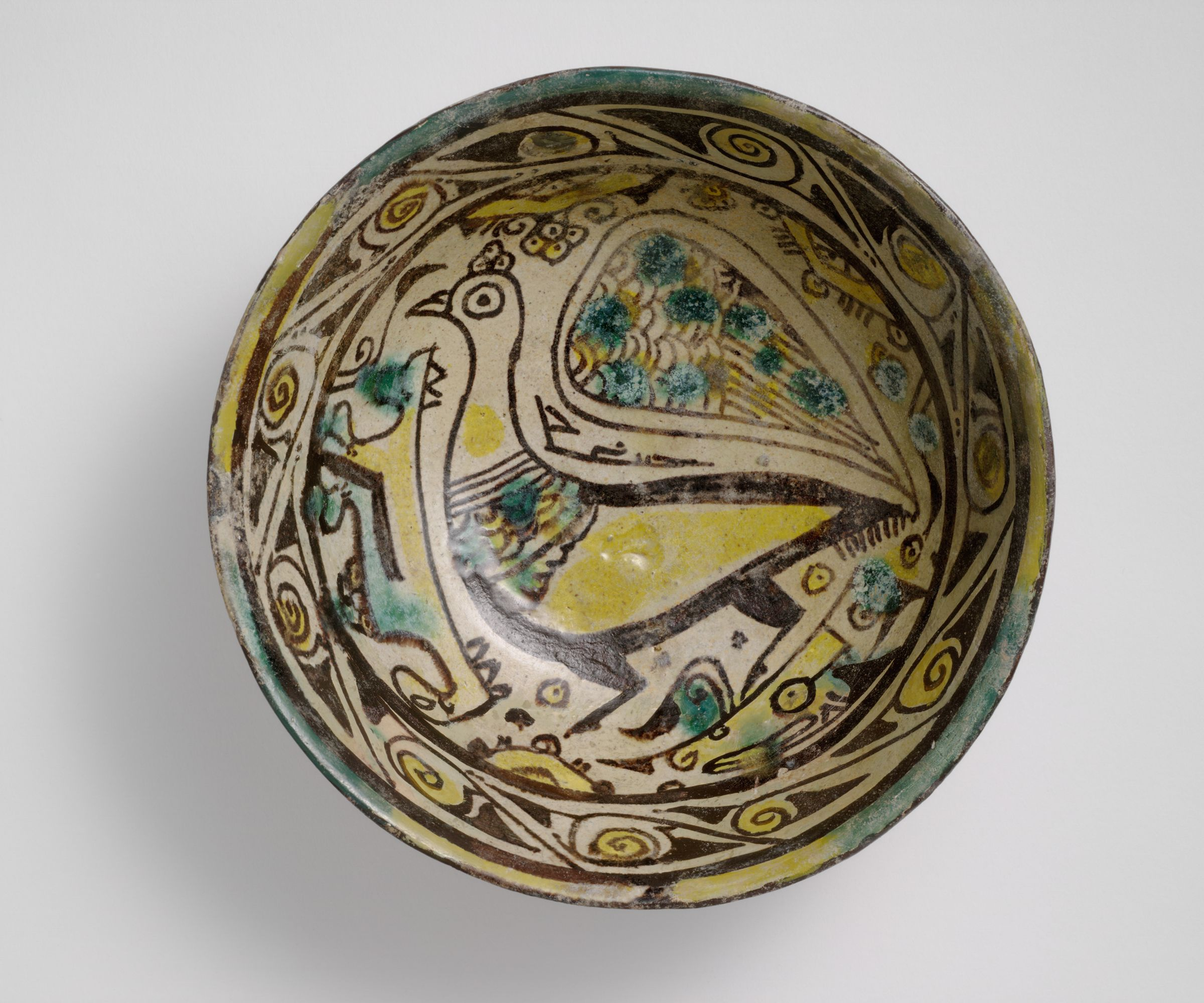 Small Bowl With Peacock