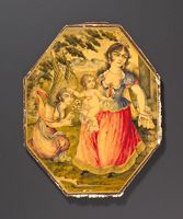 Mirror-Case Cover With Mother, Child, And Angel