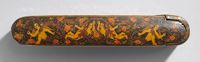 Pen Box With Flowers And Putti