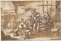 Peasants Drinking In An Inn