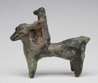 Figurine Of A Horse And Rider