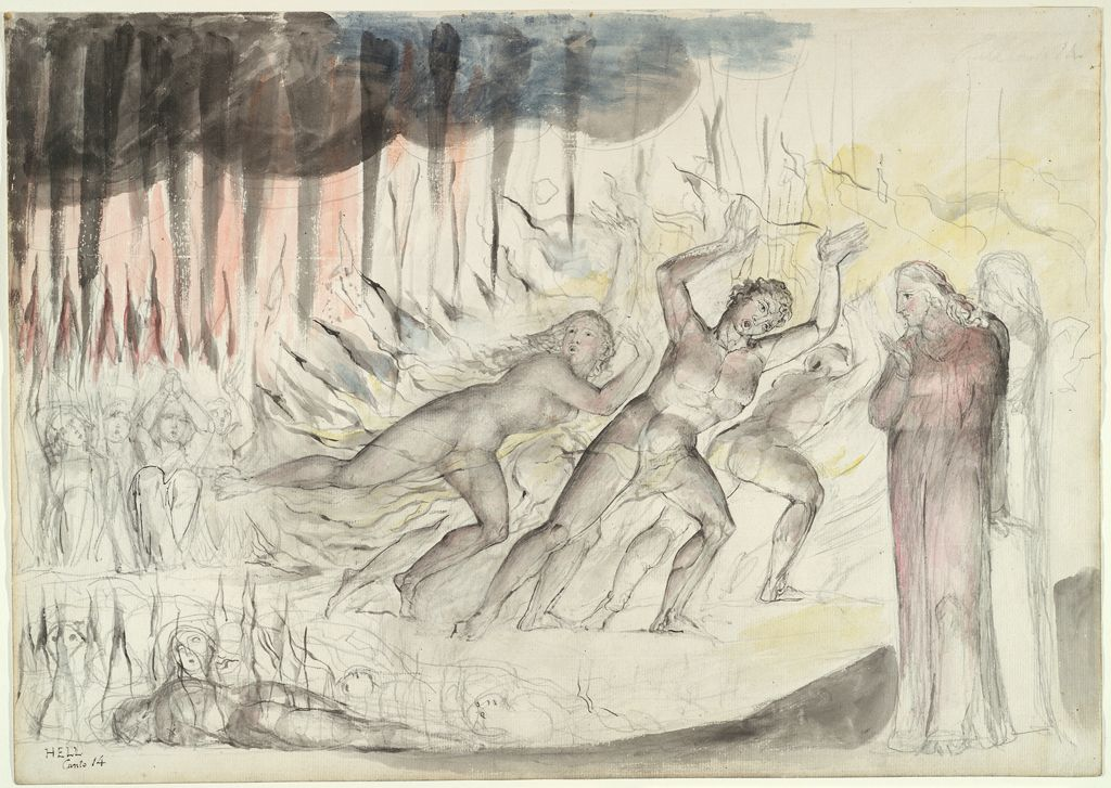 Dante And Virgil Among The Blasphemers (From Dante's