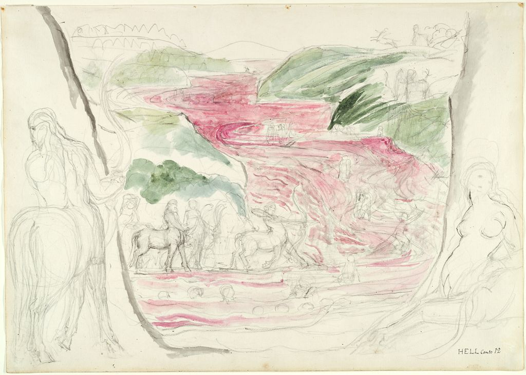 The Centaurs And The River Of Blood (From Dante's