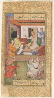 A Magnanimous Vizier (Painting, Recto; Text, Verso), Folio 128 From A Manuscript Of The Divan Of Anvari