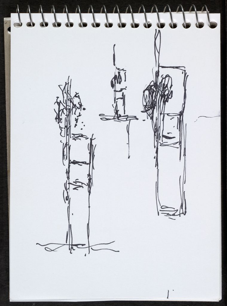 Sketches For Sculpture; Verso: Blank