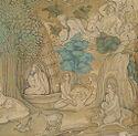 Mughal Emperor Akbar Observing An Animal Combat