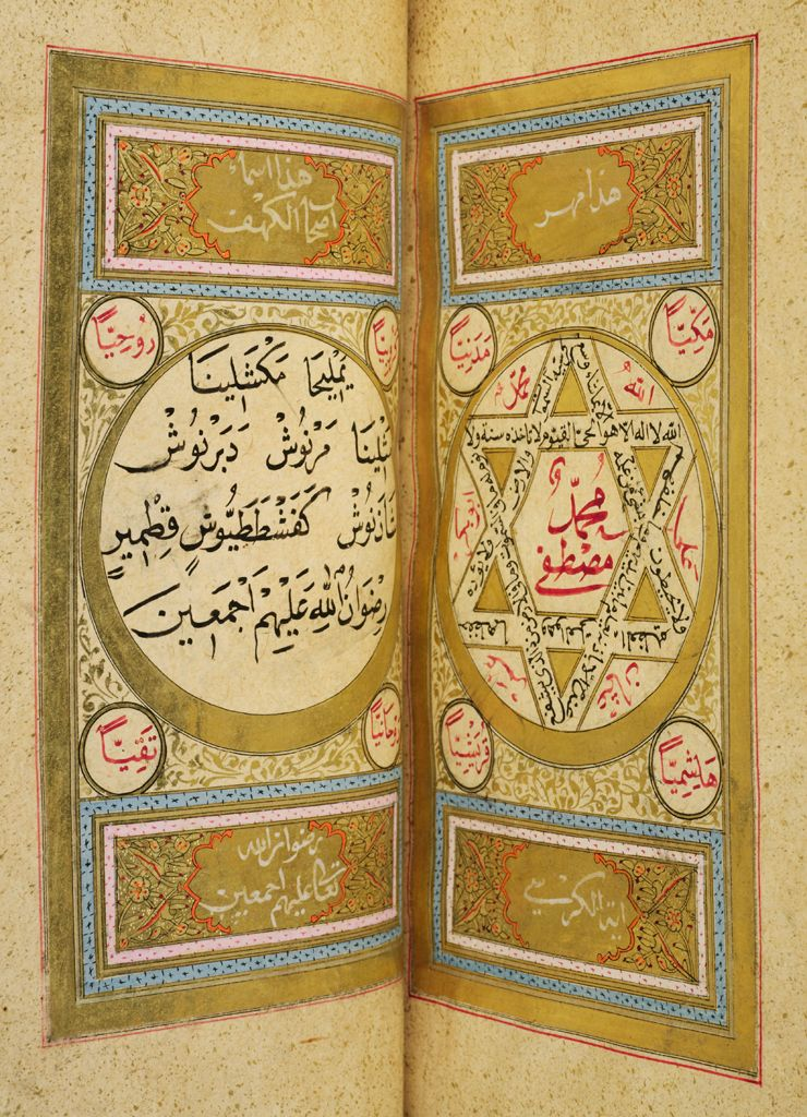 Seal Of Solomon (Recto), Seal Of The Throne Verse (Verso), Folio 78 From An An`am-I Sharif