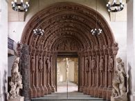 Replica of the Golden Portal (c. 1230), of Church of Our Lady, Freiberg, Germany
