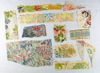 Textile fragments for study (90 pieces)