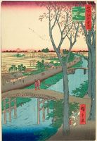 Koume Embankment (Koumezutsumi), Number 104 From The Series One Hundred Famous Views Of Edo (Meisho Edo Hyakkei)