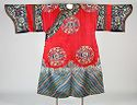 Woman's Robe With Butterfly-Medallion Decor