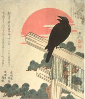 Crow On Top Of Torii