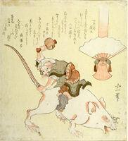 Daikoku Riding A Large Rat