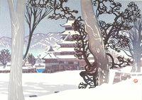 Matsumoto Castle In The Snow (Yuki No Matsumoto-Jo)