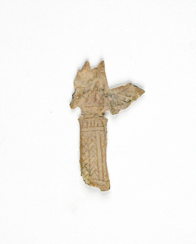 Fragmentary Votive Figurine Of A Winged Goddess