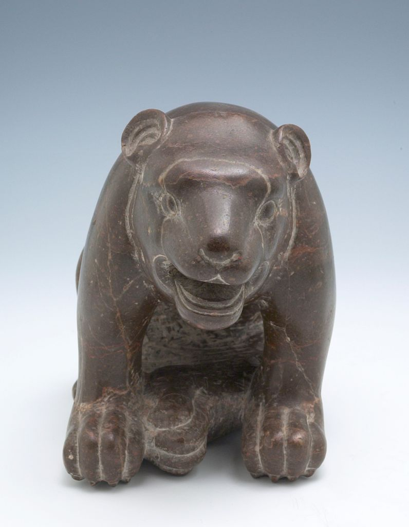 Seated Bear (One Of A Pair)