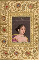 Portrait Of A Lady, Copy Of A European Painting (Painting, Recto; Text, Verso), Folio From A Manuscript