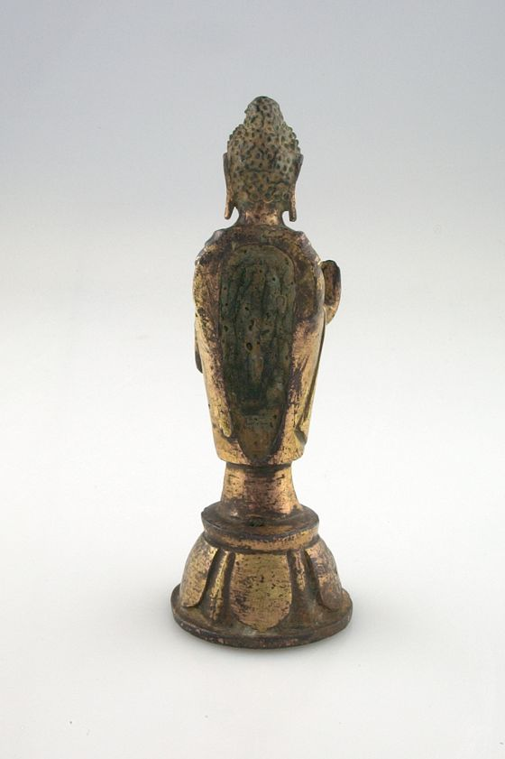 abhaya mudra left hand from the harvard museums collections buddha standing 10330