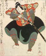 Actor Ichikawa Danjūrō 7th as Kagegiyo