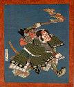 Actor Ichikawa Danjūrō 7Th As I No Hayata (From A Set Of Three Spring Kyōka Surimono)