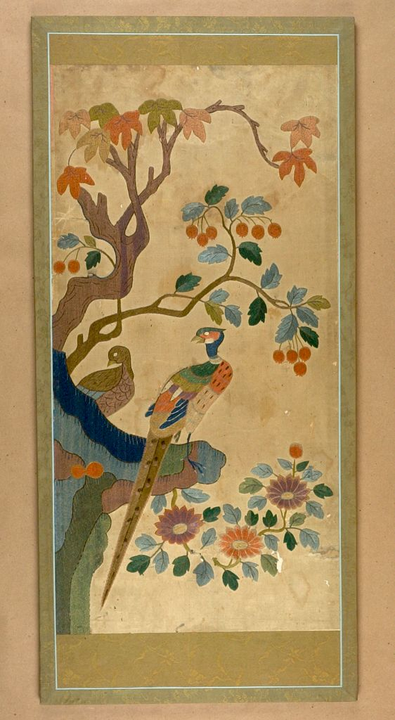 Embroidered Screen (In Two Sections)