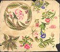 Flower Motifs And A Parrot