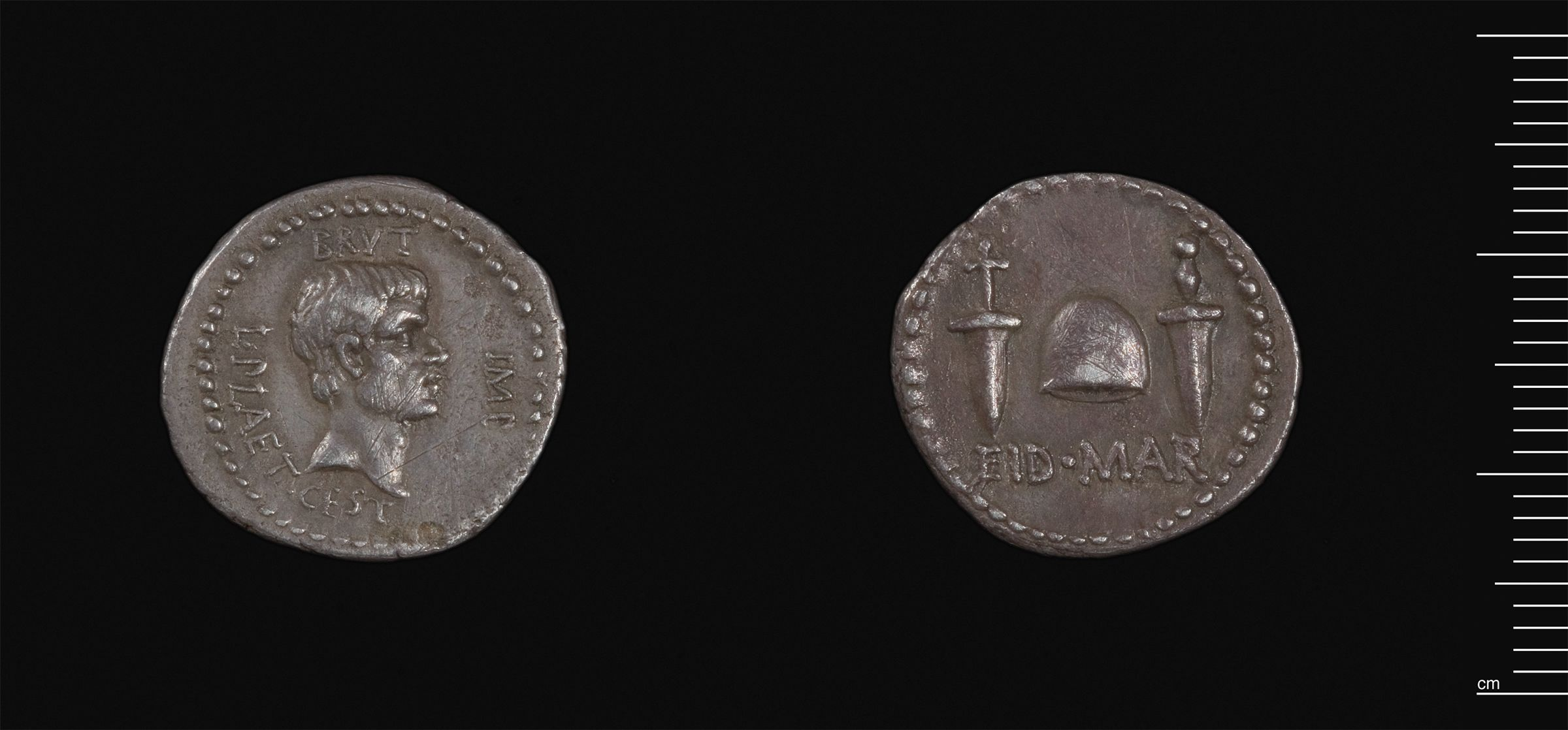 Denarius Of L. Plaetorius Cestianus For Brutus, Moving Mint