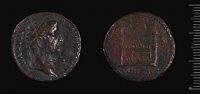Dupondius Of Tiberius Struck Under Augustus, Lugdunum
